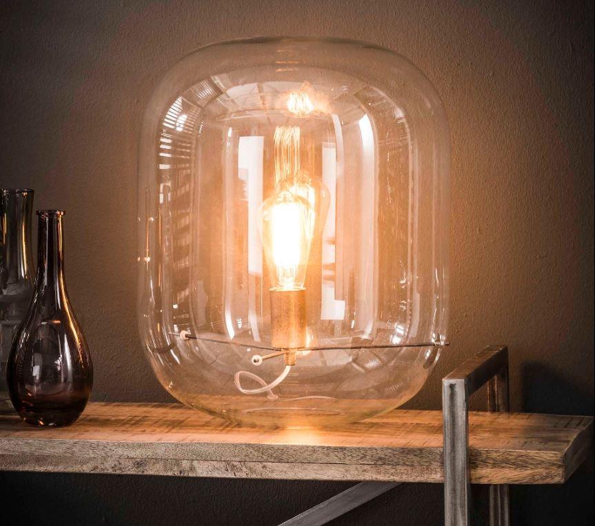 Tafellamp Darion Ø35 van 45 cm hoog Transparant glas