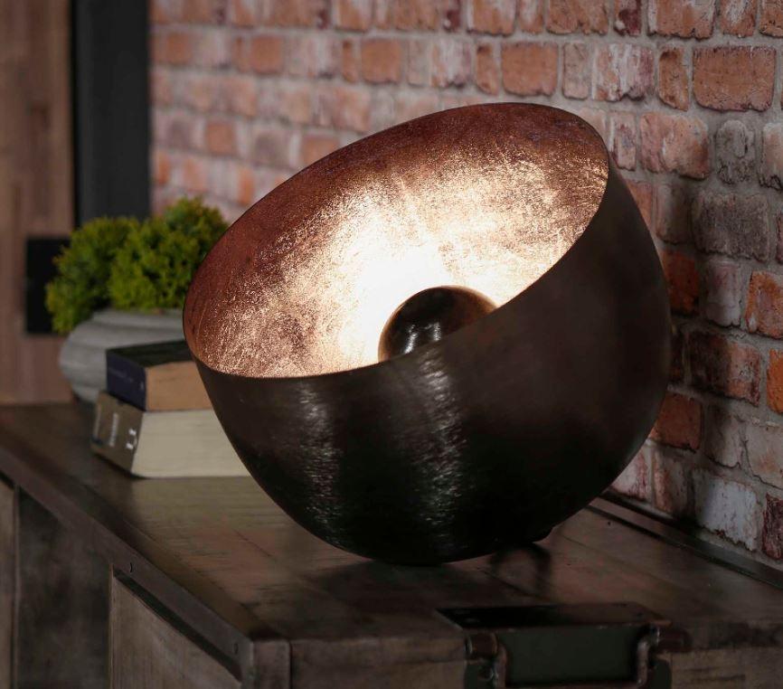 Tafellamp Basket Ø36 in zwart nikkel