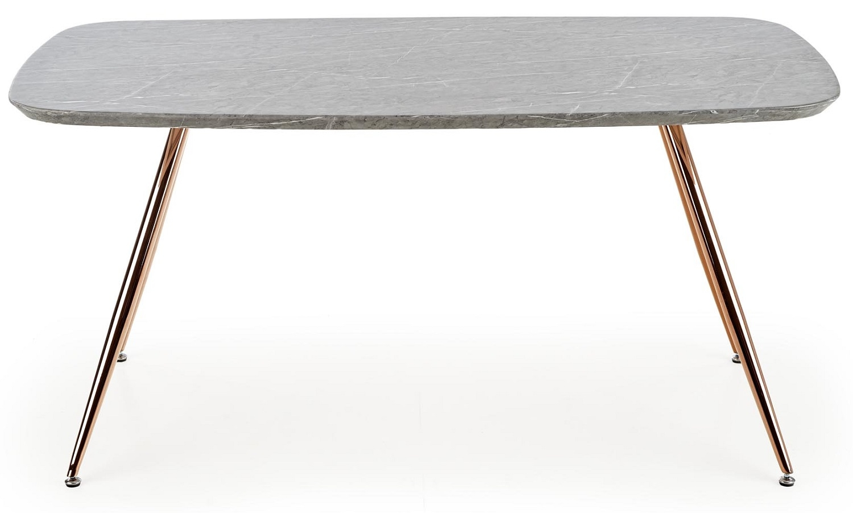 Eettafel Barcona 160 cm breed in marmer grijs