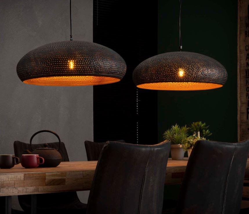 Hanglamp Ramola Double - Zwart bruin