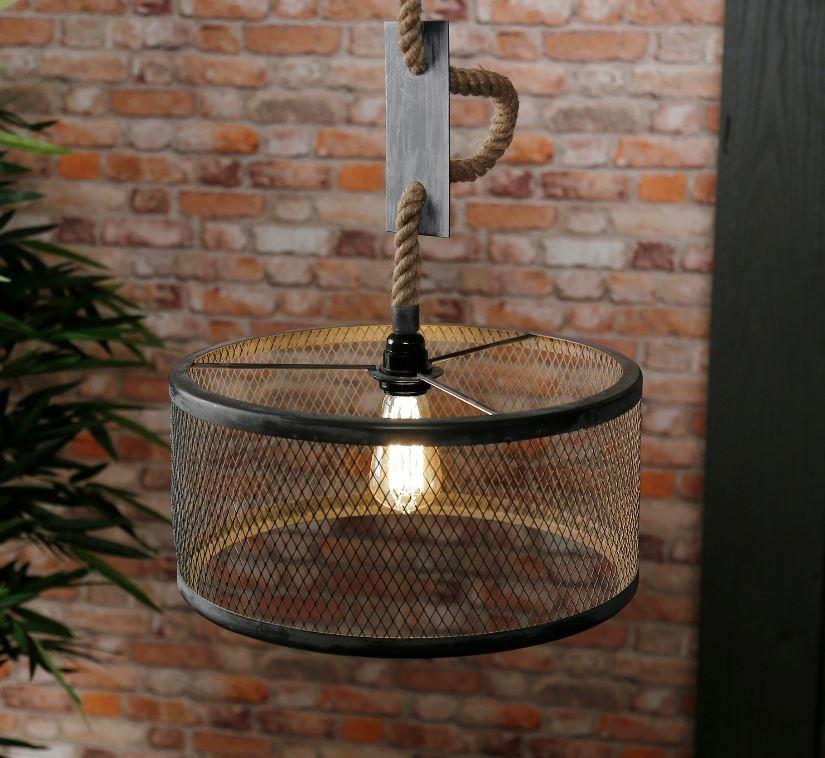 Hanglamp Cody 1LxØ40 van 150 cm hoog in grijs
