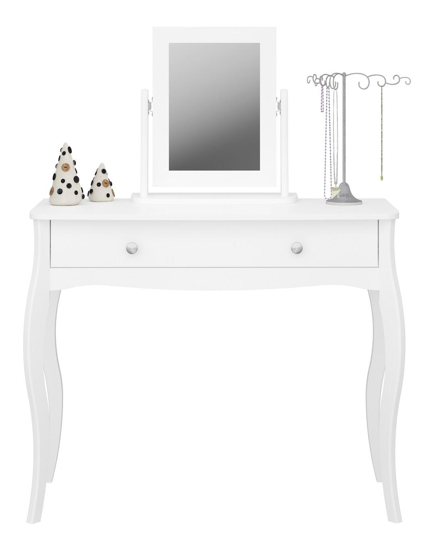 Kaptafel Baroque 100 cm breed in wit met spiegel