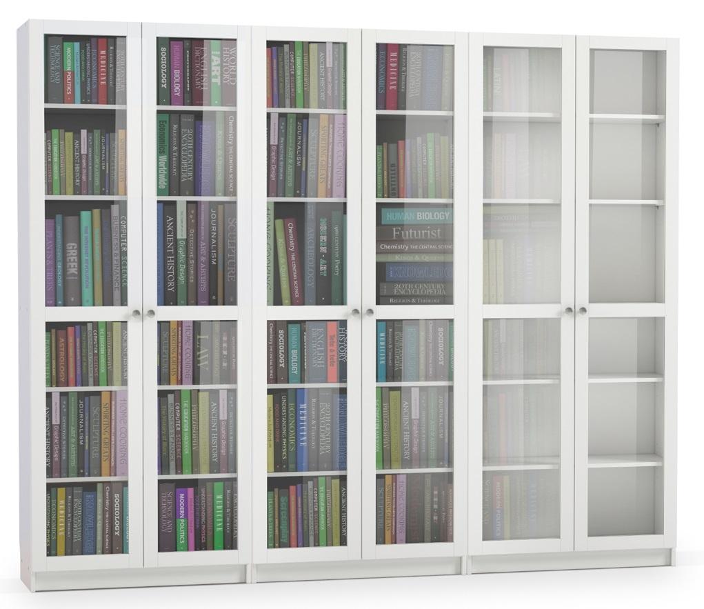 Boekenkast Anette 240 cm breed in wit