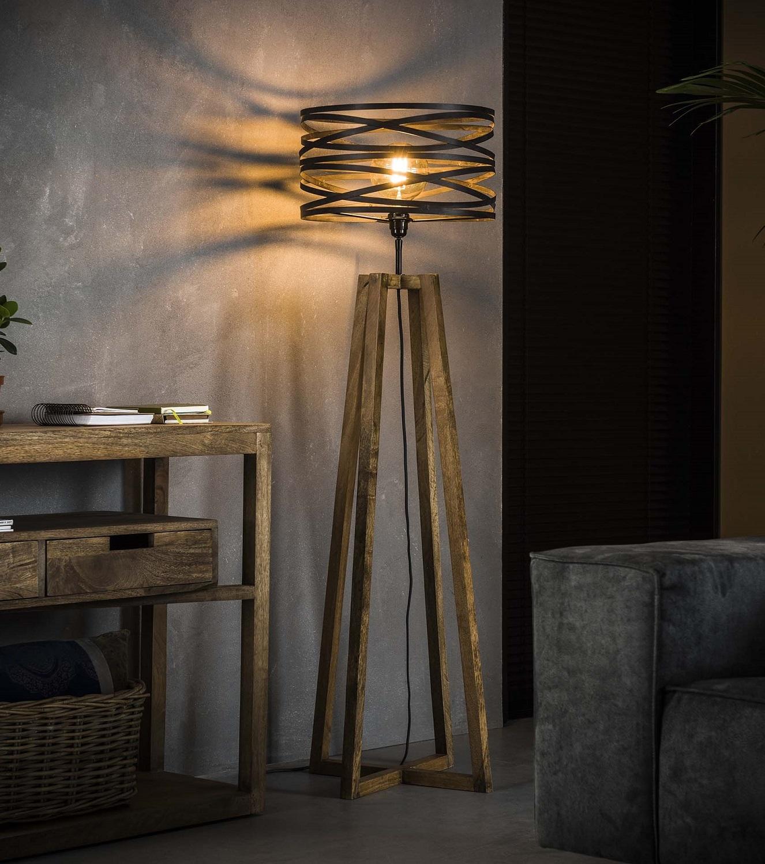 Vloerlamp Twister 141 cm hoog in slate grijs