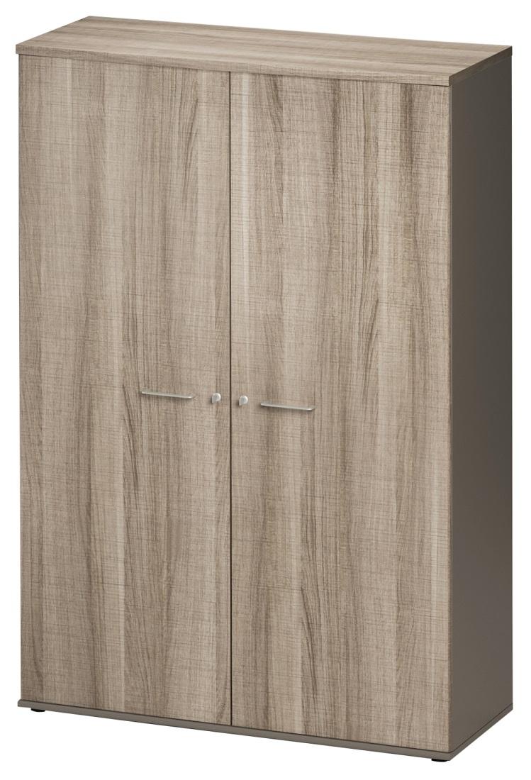 Archiefkast Jazz Medium van 183 cm hoog in grijs eiken met grijs