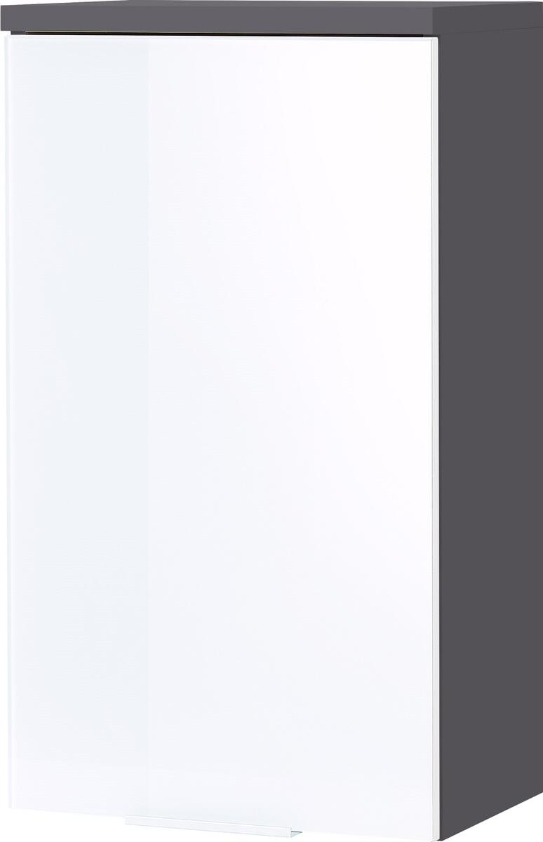 Badkamer hangkast Pescara 69 cm hoog wit met grafiet