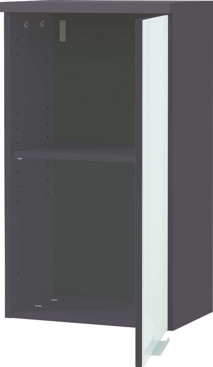 Badkamer hangkast Carla 69 cm hoog wit met grafiet
