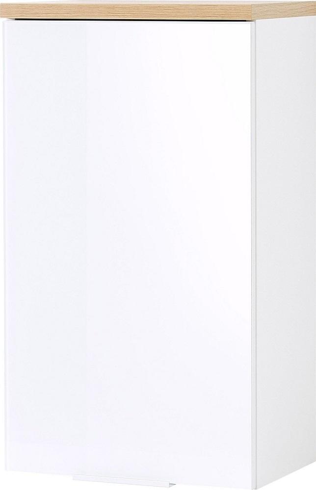 Badkamer hangkast Pescara 69 cm hoog Wit met navarra eiken
