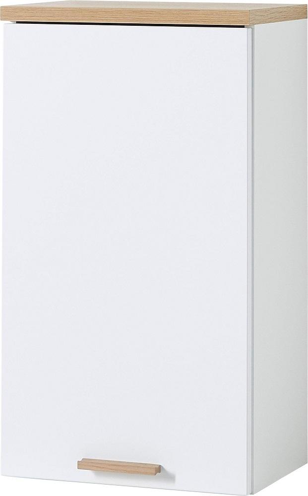Badkamer hangkast Tropea 69 cm hoog Wit met navarra eiken