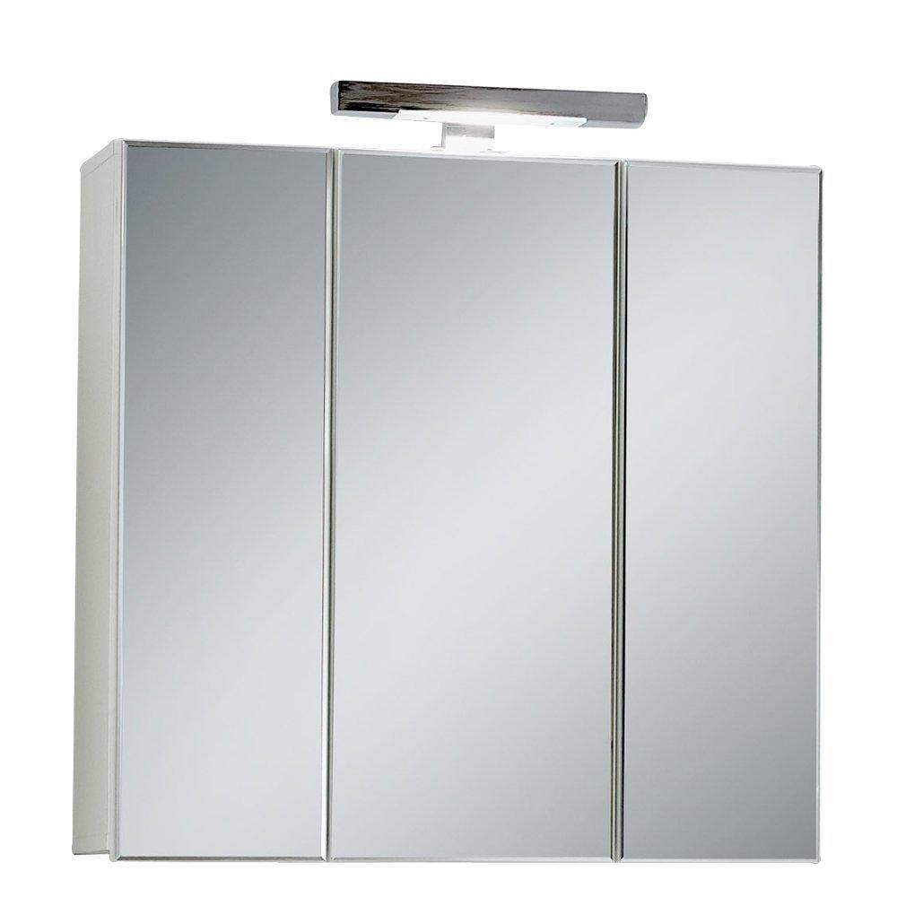 goedkope Badkamer spiegelkast Zamora 70 cm breed in wit