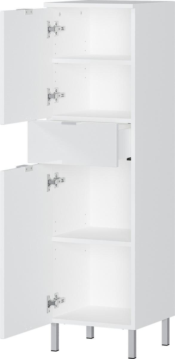 Badkamerkast Bruno 120 cm hoog in wit