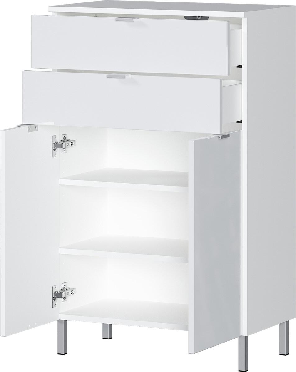 Badkamerkast Bruno 97 cm hoog in wit