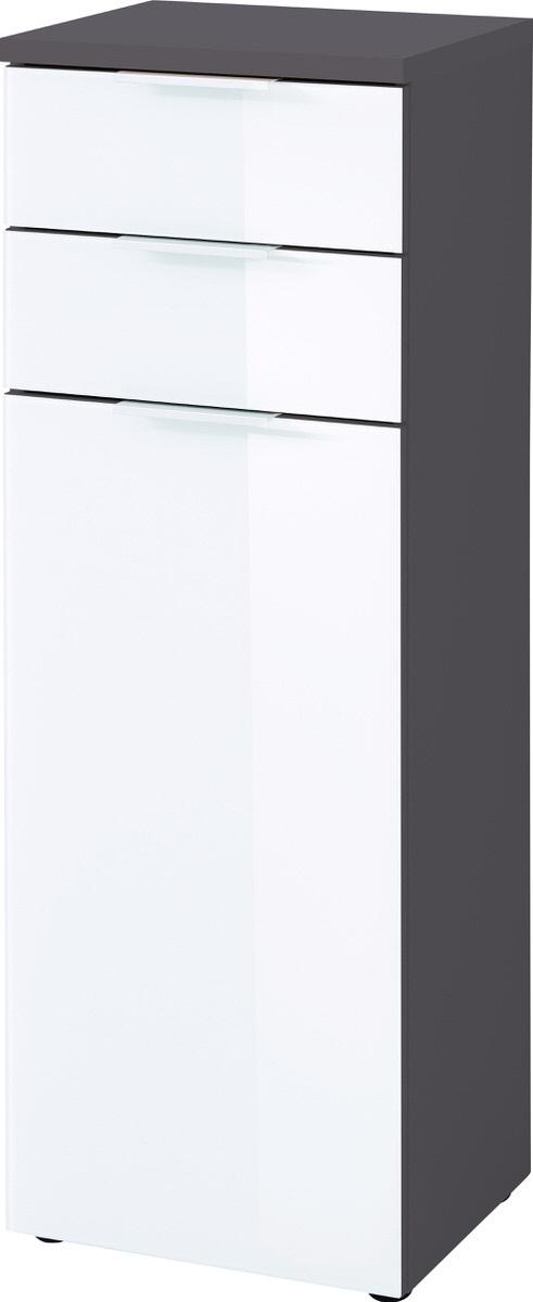 Badkamerkast Pescara 112 cm hoog wit met grafiet