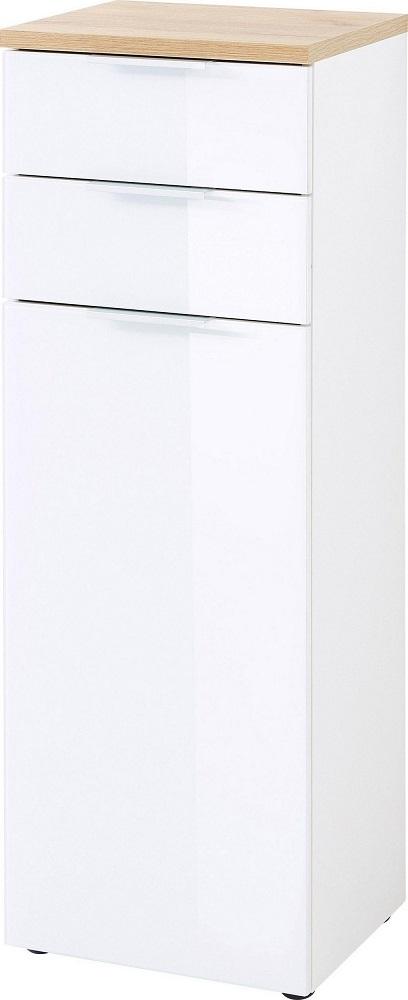 goedkope Badkamerkast Pescara 112 cm hoog Wit met bruin
