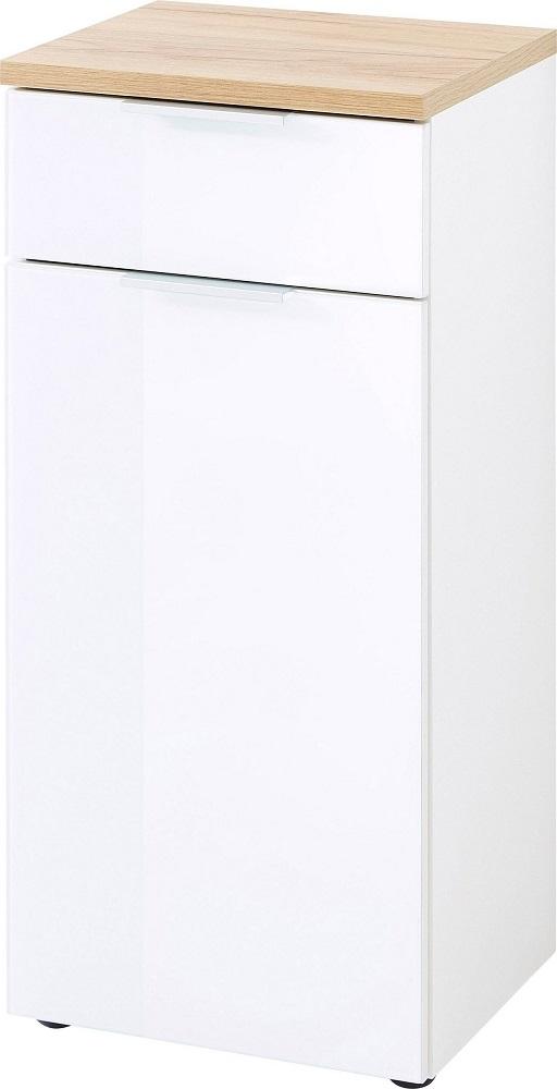 goedkope Badkamerkast Pescara 86 cm hoog Wit met bruin