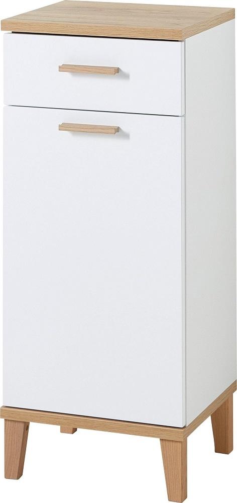 Badkamerkast Tropea 91 cm hoog – Wit met navarra eiken