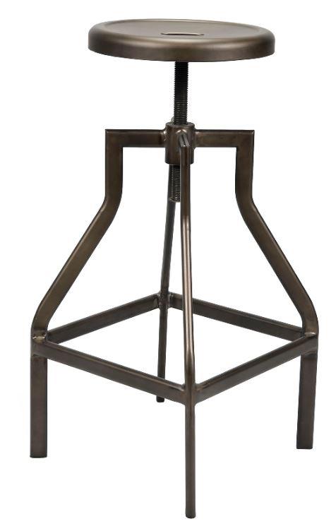 Barkruk set Bistro 2 stuks in brons bruin verstelbaar