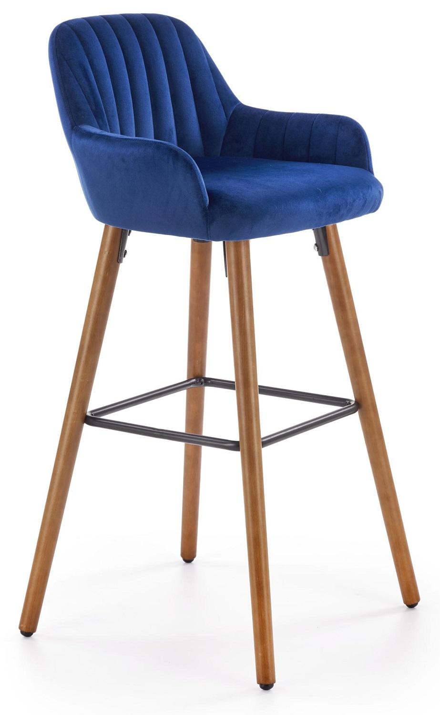 Barkruk Marley 97 cm hoog in blauw