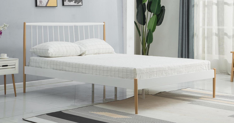 Bed Lemi 120x200cm in wit
