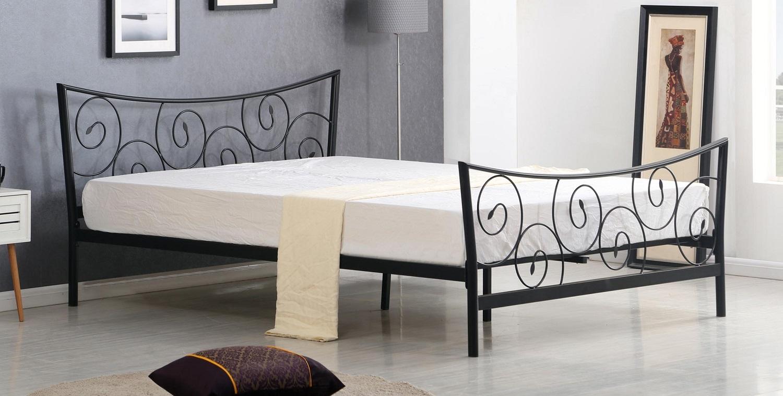 Bed Ramona 120x200cm in zwart