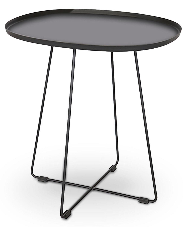 Bijzettafel Tina 50 cm breed in zwart