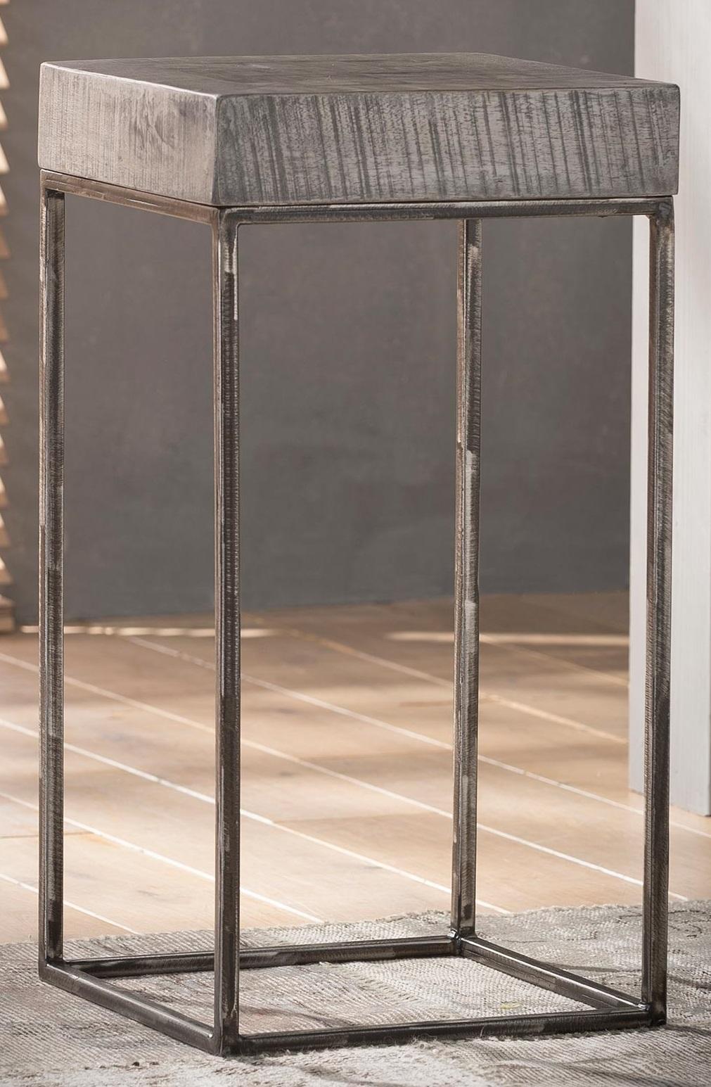 Bloemenzuil Iwan 70 cm hoog - Grijs Antiek