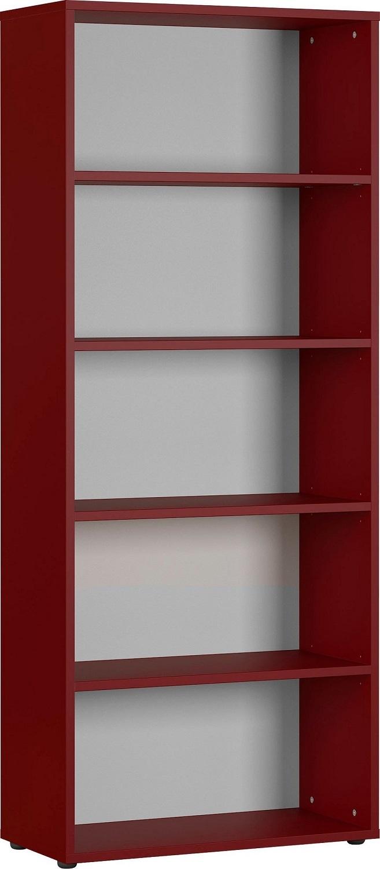 Boekenkast Agenda medium 197 cm hoog in robijn rood