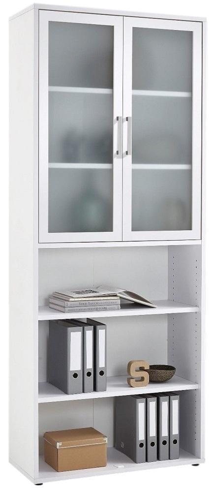 Boekenkast Calvia 12 van 222 cm hoog in wit