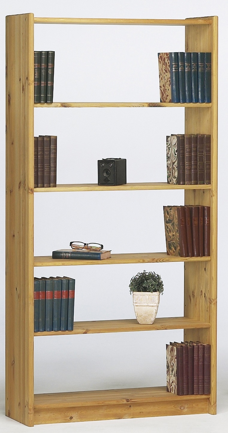 Boekenkast Mario M 170 cm hoog in geolied grenen