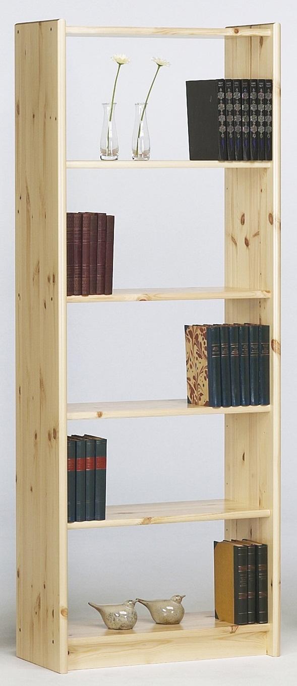Boekenkast Mario S 170 cm hoog in natuurlijk grenen