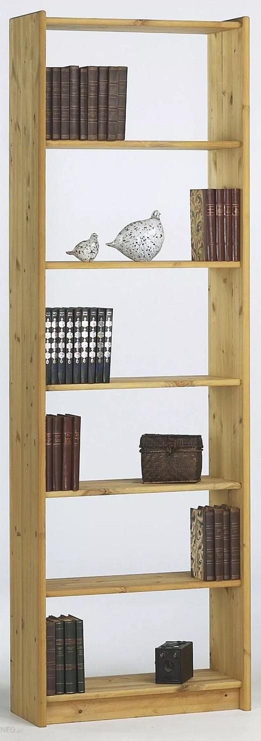 Boekenkast Mario S 205 cm hoog in geolied grenen