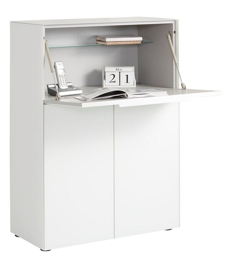 Boekenkast Yas 116 cm hoog - Wit