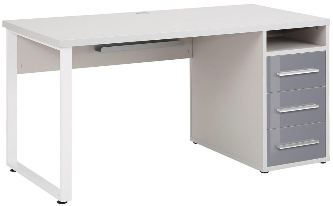 Bureau Banco 150 cm breed Platina grijs met grijs