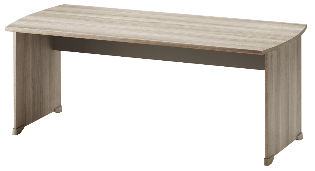 Bureau Jazz 180 cm breed in grijs eiken