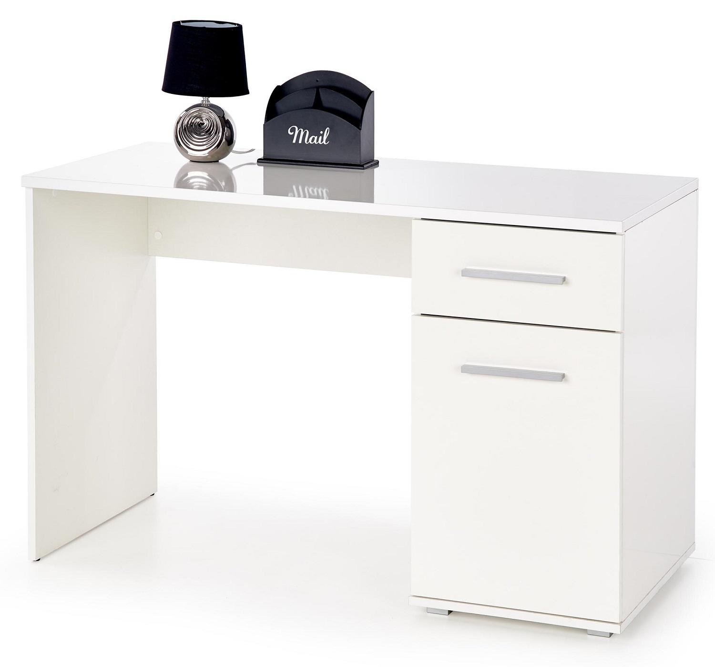 Bureau Lima 120 cm breed in hoogglans wit