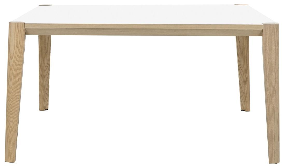 Bureau tafel Absolu 160 cm breed in wit met eiken