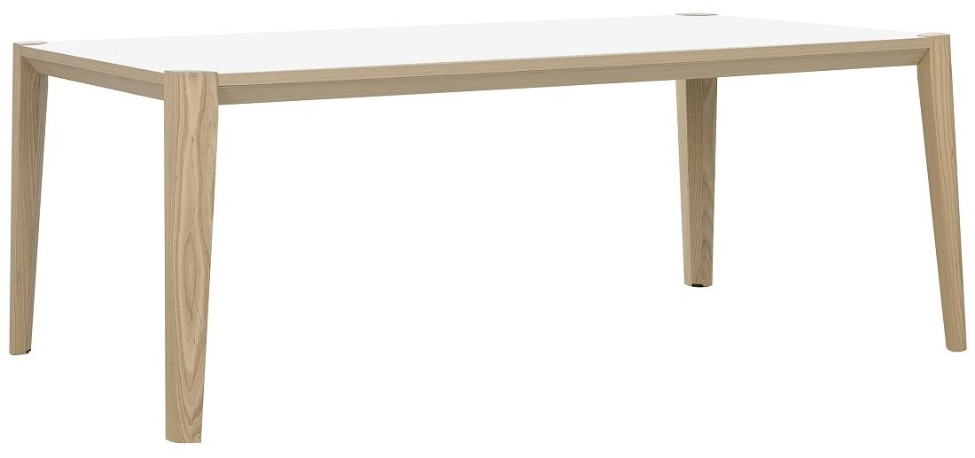 Bureau tafel Absolu 200 cm breed in wit met eiken