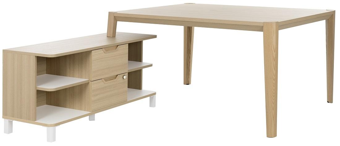 Bureau tafel set Absolu 144 cm breed in eiken