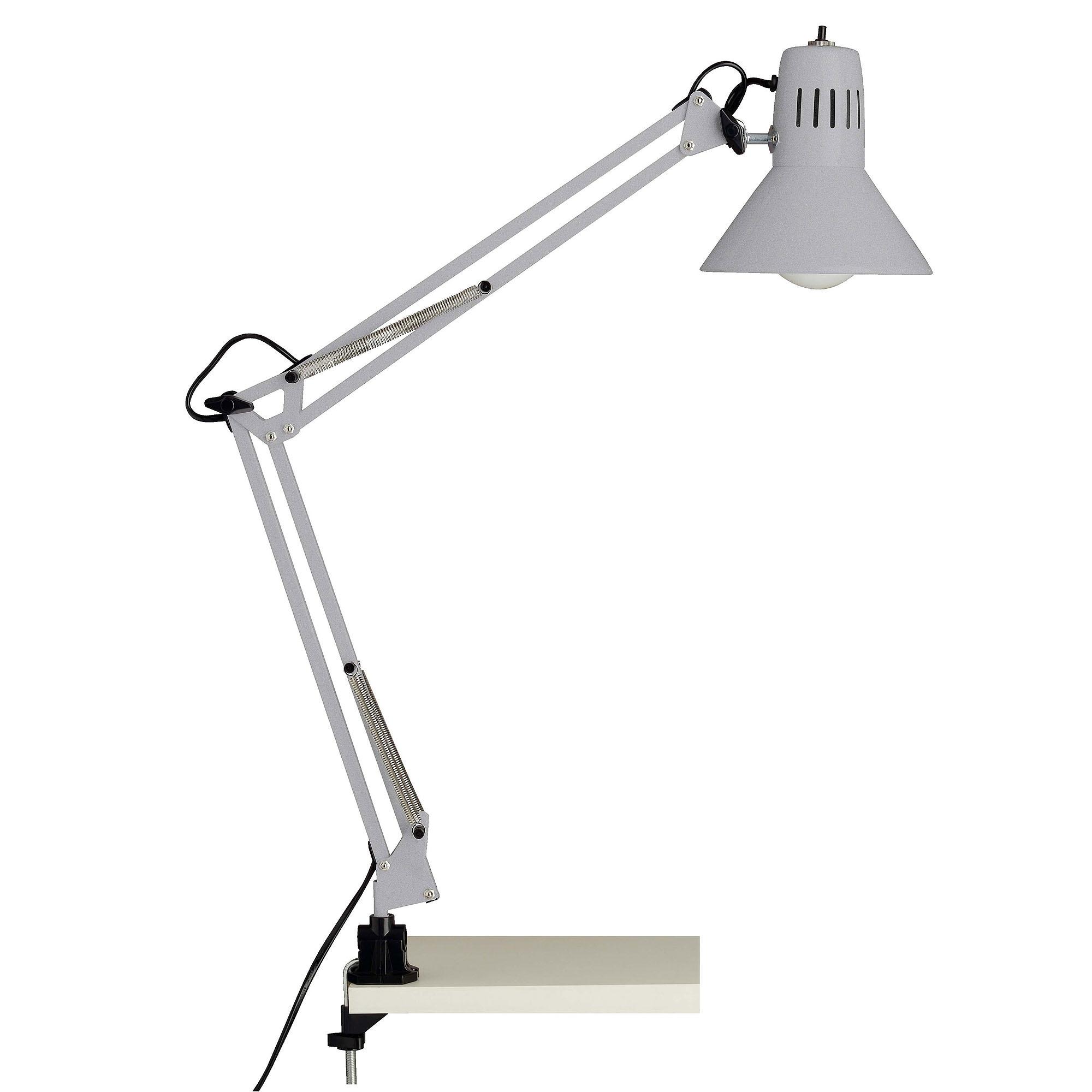 Bureaulamp Bobbie 1xE27 60Watt in zilver