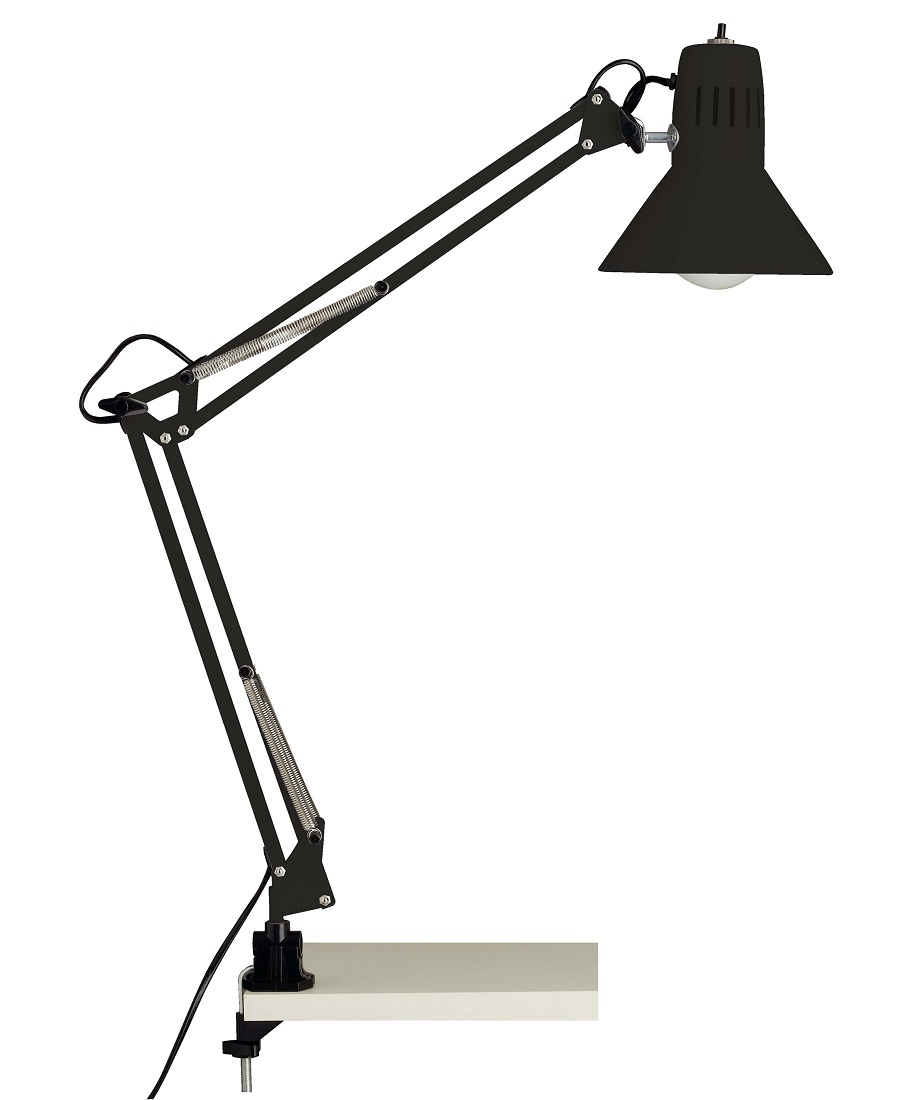 Bureaulamp Bobbie 1xE27 60Watt in zwart