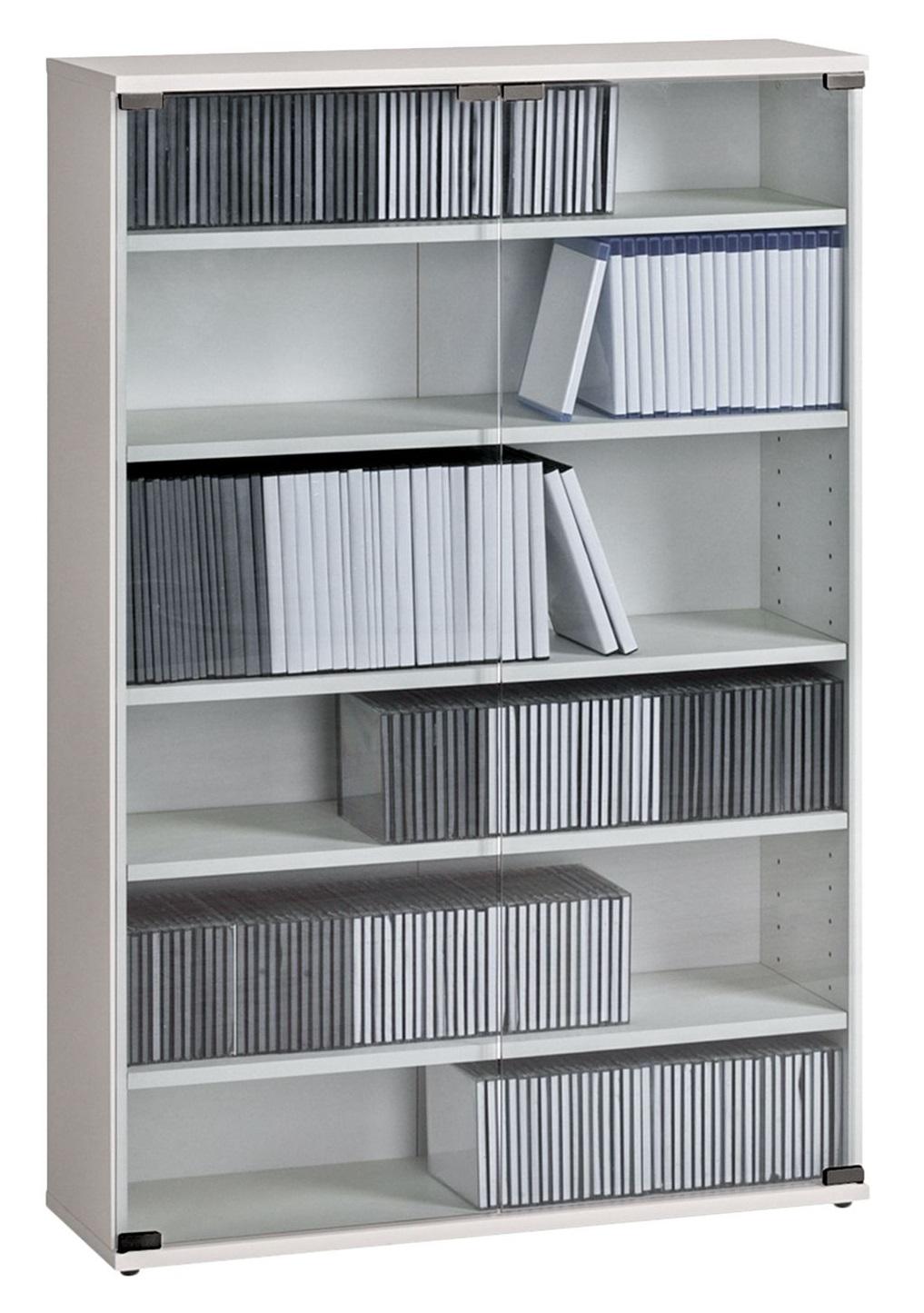 CD DVD kast Maya L 110 cm hoog in wit