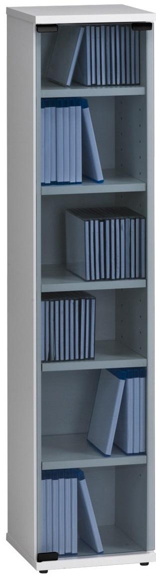 CD DVD kast Maya 110 cm hoog in wit