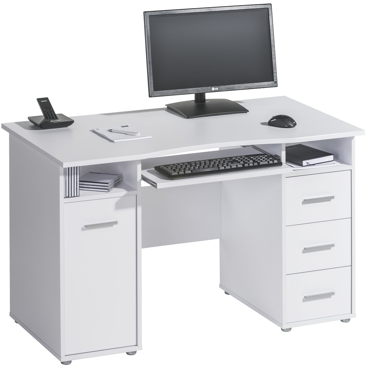 Bureau Azer 120 cm breed in wit