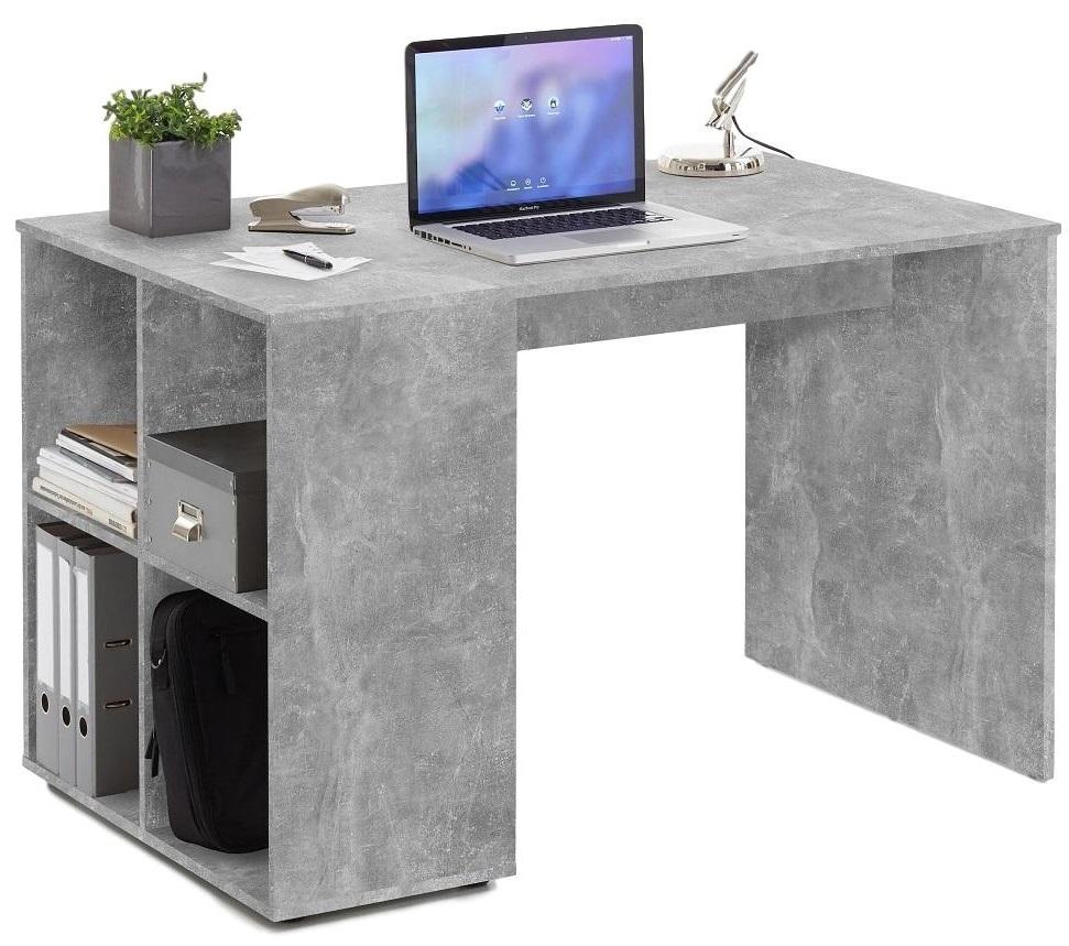 Bureau Gent 117 cm breed in grijs beton