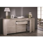 Dressoir Clio 205 cm breed in Champagne Eiken