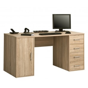 Bureau Frido 150 cm breed - Sonoma eiken