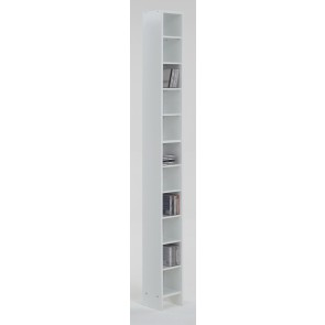 CD DVD Kast 185 cm hoog in wit