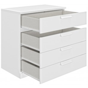 Commode Cyrus 81 cm hoog in wit