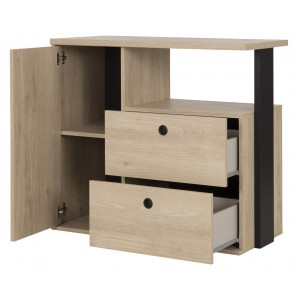 Commode Duplex 80 cm hoog in naturel kastanje