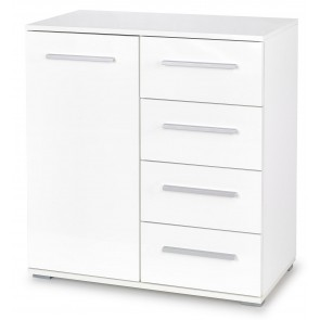 Commode Lima 82 cm hoog in hoogglans wit